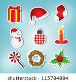 Christmas Icon Label Set