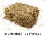 studio shot of hay.