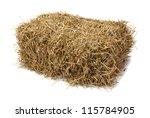 studio shot of hay  isolated on ...
