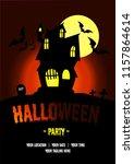 halloween party banner | Shutterstock .eps vector #1157864614
