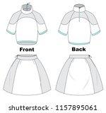 fashion sports wear for tennis. ... | Shutterstock .eps vector #1157895061