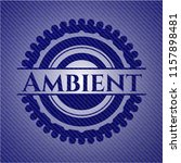 ambient emblem with jean... | Shutterstock .eps vector #1157898481
