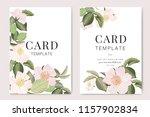 wedding invitation  floral... | Shutterstock .eps vector #1157902834