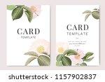 wedding invitation  floral... | Shutterstock .eps vector #1157902837