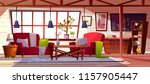 loft lounge room interior... | Shutterstock .eps vector #1157905447