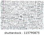 doodle design elements vector... | Shutterstock .eps vector #115790875
