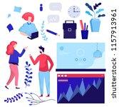 vector set  illustration.... | Shutterstock .eps vector #1157913961