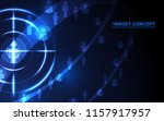 abstract shooting target... | Shutterstock .eps vector #1157917957