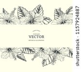 vector vintage background with... | Shutterstock .eps vector #1157924887