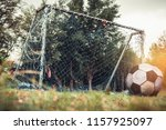 old vacant football gate or... | Shutterstock . vector #1157925097