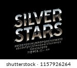 vector reflective sign silver... | Shutterstock .eps vector #1157926264