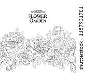 botanical flowers garland. the...   Shutterstock .eps vector #1157931781