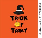trick or treat. hand drawn... | Shutterstock .eps vector #1157934364