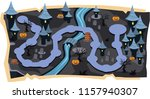 halloween 2d games maps with... | Shutterstock .eps vector #1157940307