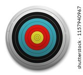 3d realistic target for archery ... | Shutterstock .eps vector #1157940967