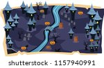 halloween 2d game maps and... | Shutterstock .eps vector #1157940991