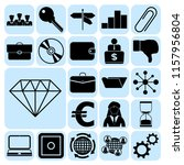 set of 22 business high quality ... | Shutterstock .eps vector #1157956804