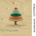 vintage eco infographic with... | Shutterstock .eps vector #115795819
