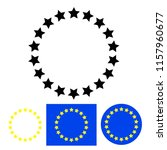 stars in circle icon stock... | Shutterstock . vector #1157960677