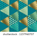 decorative patchwork style... | Shutterstock .eps vector #1157960707