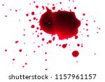 blood drops on a white...   Shutterstock . vector #1157961157