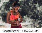 outdoor exercising. female...   Shutterstock . vector #1157961334
