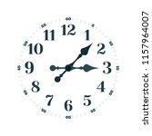 time concept. clock face vector ... | Shutterstock .eps vector #1157964007