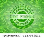 client testimonials green...   Shutterstock .eps vector #1157964511