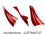 three flowing style red cape...   Shutterstock . vector #1157966737