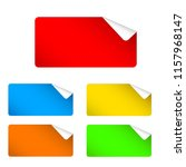 colorful stickers for sale and... | Shutterstock . vector #1157968147