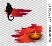 hindu mythological lord ganesha ... | Shutterstock .eps vector #1157970367