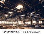 abandoned ruins of industrial... | Shutterstock . vector #1157973634