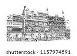 lnadmark building of old city... | Shutterstock .eps vector #1157974591