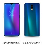 realistic smartphone mockup... | Shutterstock .eps vector #1157979244