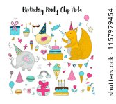 big set of birthday party... | Shutterstock .eps vector #1157979454