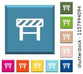 construction barrier white... | Shutterstock .eps vector #1157994094
