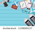 top view travel around the... | Shutterstock .eps vector #1158000127