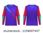templates of sportswear designs ...   Shutterstock .eps vector #1158007447