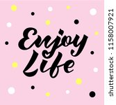 vector illustration of enjoy... | Shutterstock .eps vector #1158007921