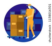 woman worker organizing... | Shutterstock .eps vector #1158016501