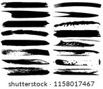 collection of artistic grungy... | Shutterstock . vector #1158017467