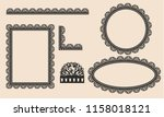 set of border lace vector by... | Shutterstock .eps vector #1158018121