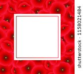 papaver rhoeas banner card or... | Shutterstock .eps vector #1158021484
