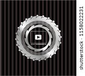 video player icon inside silver ...   Shutterstock .eps vector #1158022231