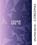 vector blue white cover page... | Shutterstock .eps vector #1158029461