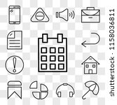 set of 13 transparent icons... | Shutterstock .eps vector #1158036811