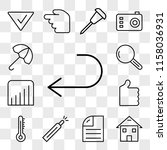 set of 13 transparent icons... | Shutterstock .eps vector #1158036931