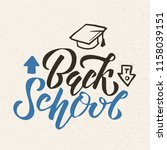 hand sketched back to school... | Shutterstock .eps vector #1158039151