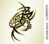 snake tattoo   Shutterstock .eps vector #115803991