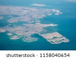 high altitude aerial view of... | Shutterstock . vector #1158040654